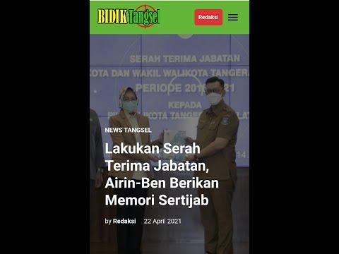 Airin-Ben Berikan Memori Sertijab Plh. Walikota Tangsel