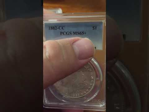 1882 CC Silver dollar review MS-65 plus