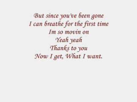 Kelly Clarkson: Since You Been Gone (lyrics)