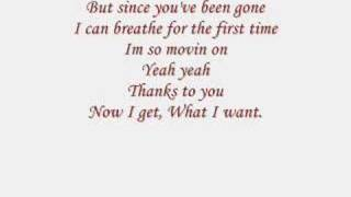 Repeat youtube video Kelly Clarkson: Since You Been Gone (lyrics)