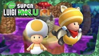 New Super Luigi U Deluxe ᴴᴰ   World 5 (All Star Coins) Solo Toad