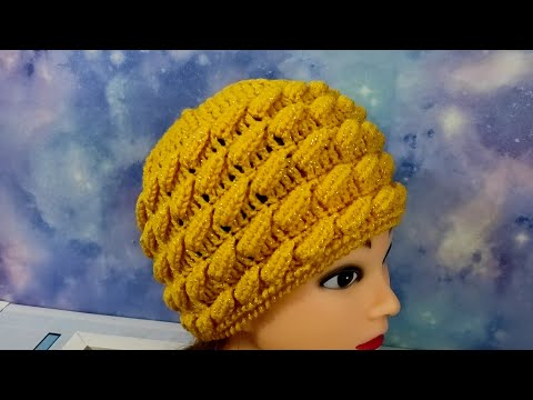 Шапочка крючком для девочки схема вязаная шапочка на весну