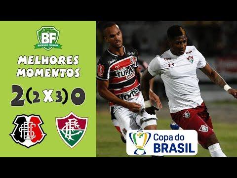 Santa Cruz 2 (2 x 3) 0 Fluminense | Copa do Brasil 2019 - Melhores Momentos - Barrinha Fechada