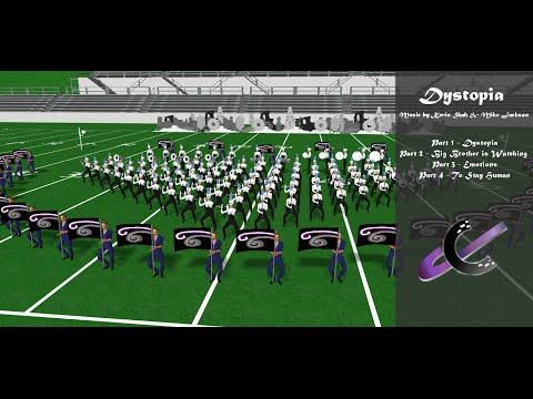 Dystopia - Movement 1 Preview - Marching Band Drill Design
