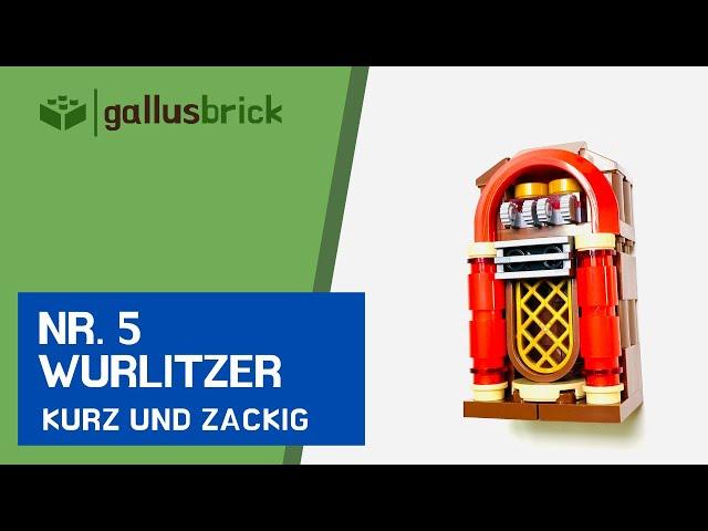 Wie baue ich eine Wurlitzer Jukebox aus LEGO? | Nr. 5 kurz und zackig
