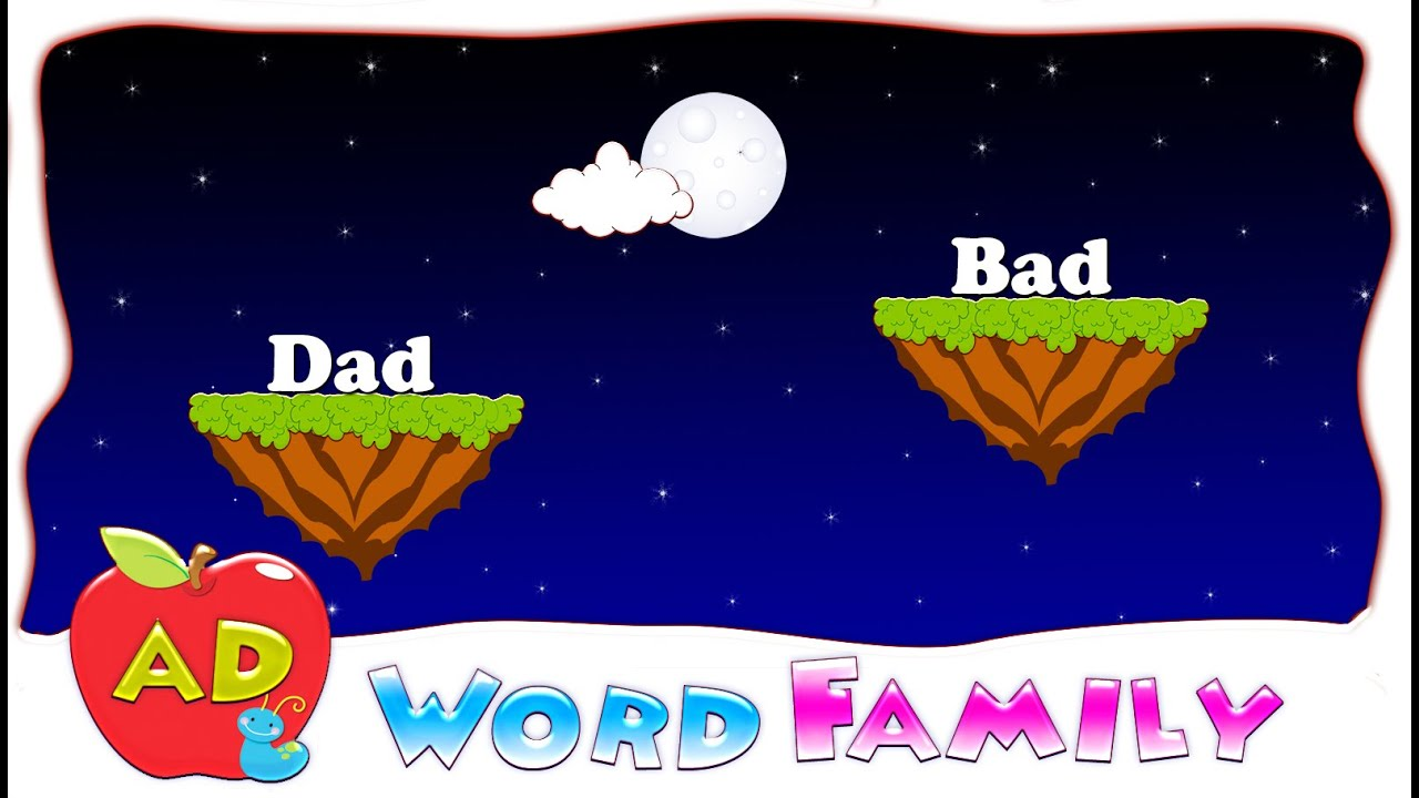 make a word with ad ad word family ad rhyming words youtube