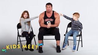 Kids Meet a Body Builder (Brayden & Amya)   Kids Meet   HiHo Kids