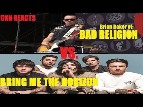 "BAD RELIGION Guitarist Thinks BRING ME THE HORIZON ""Suck as Humans"""