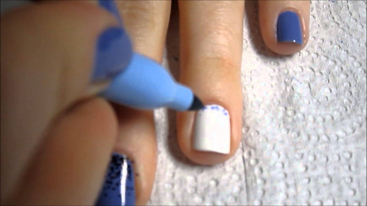 Sharpie Nail Art - Dotted Gradient - YouTube