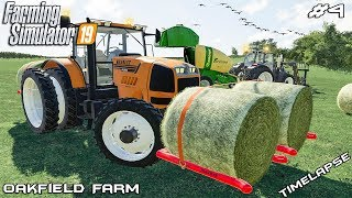 Mowing, baling and carting hay | Animals on Oakfield Farm | Farming Simulator 19 | Episode 4