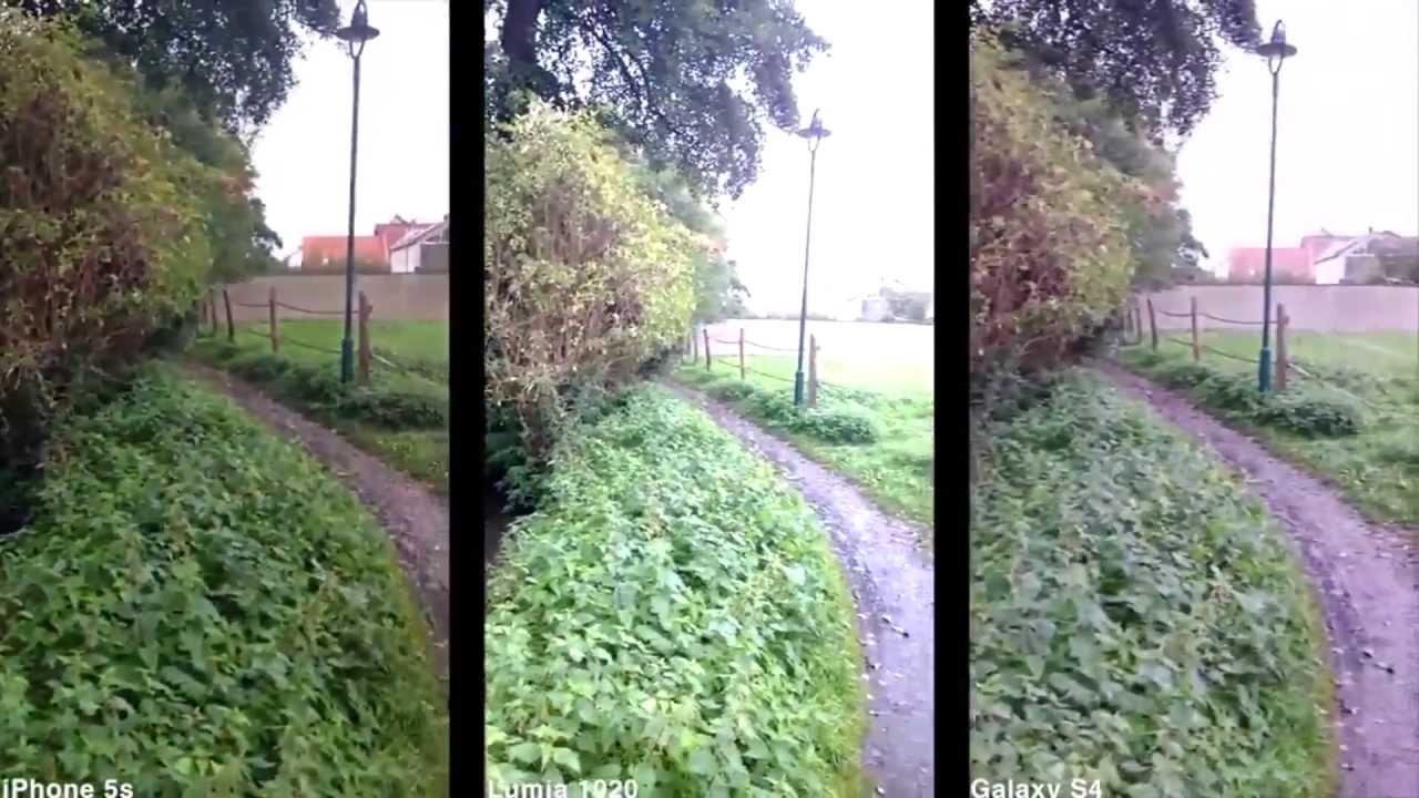 Lumia 1020 Vs IPhone 5s Galaxy S4 Camera Comparison