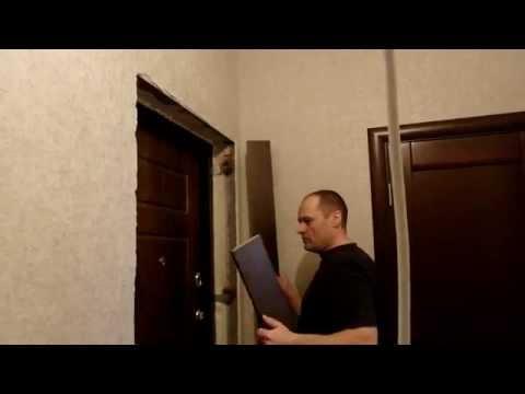 Входная дверь , откосы из лдсп