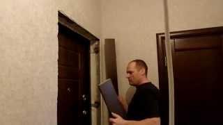 Входная дверь , откосы из лдсп(Отделка откоса входной двери , доборами из лдсп, и телескопическими наличниками., 2015-02-03T22:58:10.000Z)