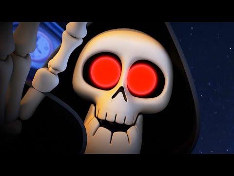 Funny Animated Cartoon   Spookiz Halloween Skeleton Teacher is Scary! 스푸키즈 Cartoon For Children