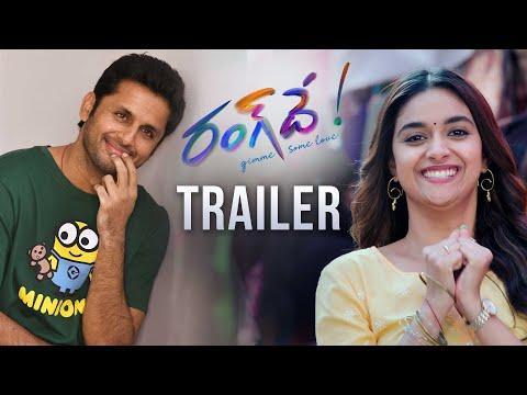 #RangDe Official Trailer | Nithiin, Keerthy Suresh | Venky Atluri | Devi Sri Prasad