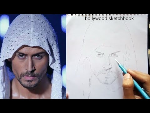 Munna Michael Tiger Shroff How To Draw Outline Youtube