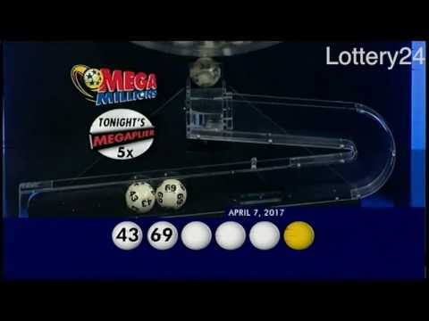 2017 04 07 Mega Millions Numbers and draw results