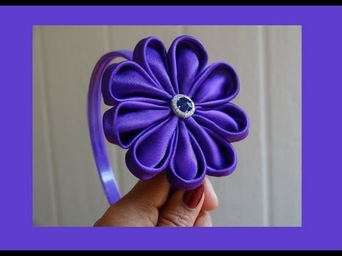 How to make fabric flower for headbands