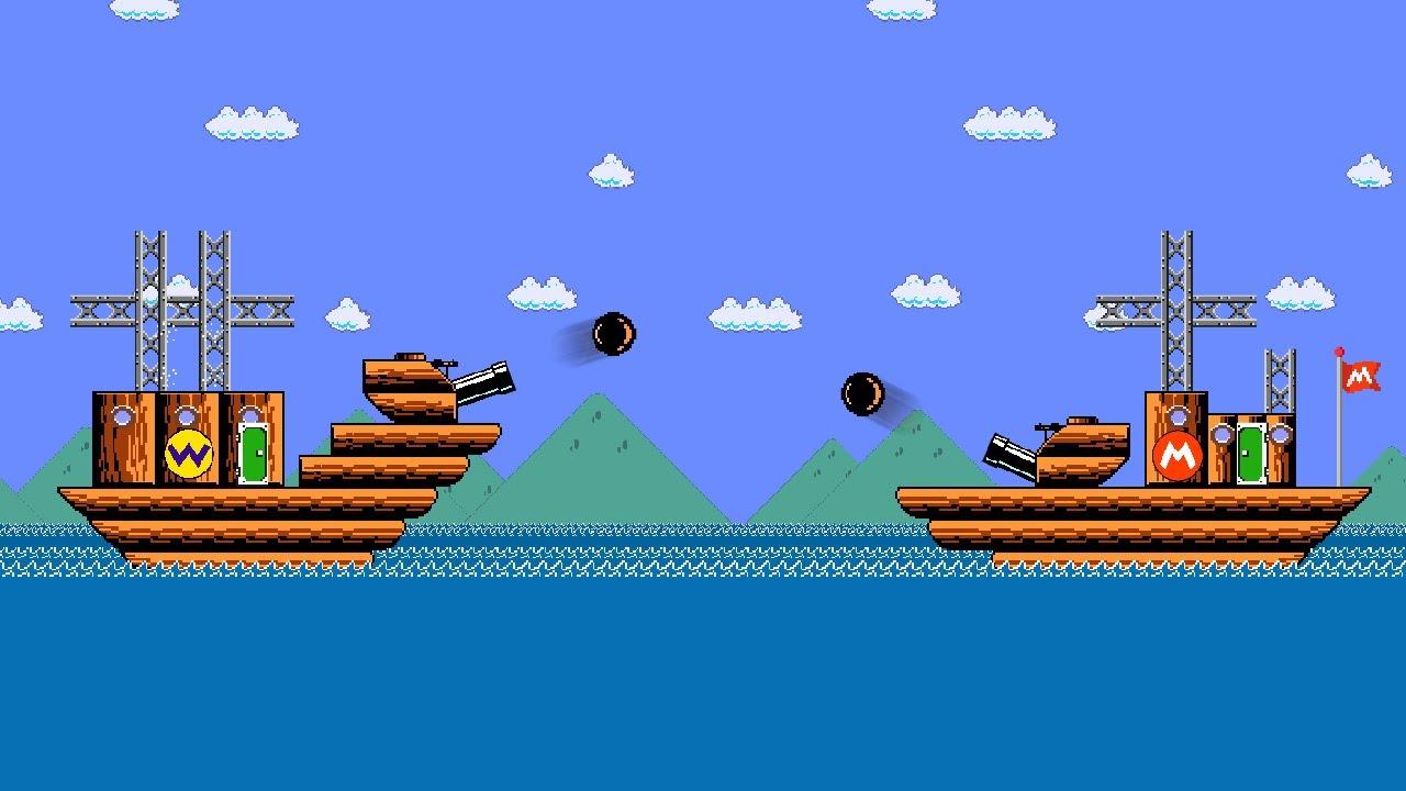 Mario's Battleship Attack Minigame