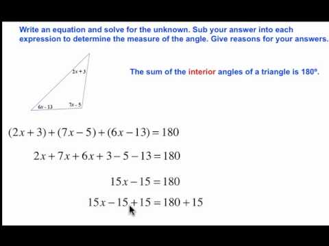 Sum Of The Interior Angles Of A Triangle Geometry And Algebra 6j