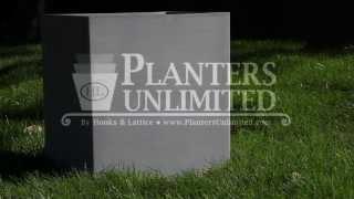 Satin Aluminum Planters