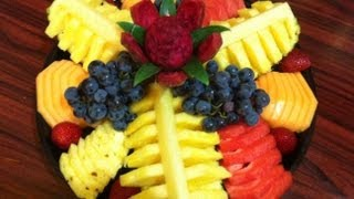 Platon de fruta para regalo o fiesta #2  Ahorra dinero hazlo tu mismo DIY - La receta de la abuelita