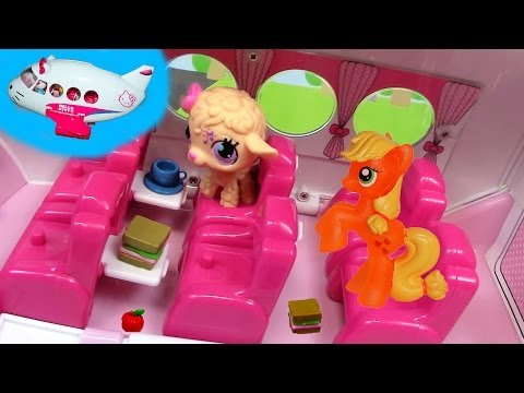 Pinkie Pie Hello Kitty Airlines Jet Playset Toy Review My Little Pony Airplane Unboxing Part 2
