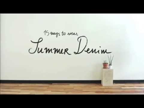 Casual summer denim worn 15 ways | Anthropologie