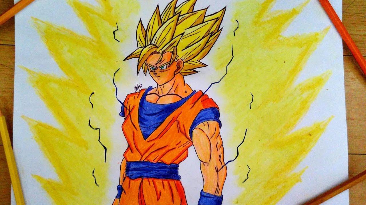 Drawing Ssj2 Super Saiyan 2 Goku From Dragonball Z
