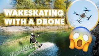 Drone Wakeskating In Slovenia