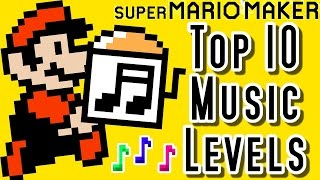 Repeat youtube video Super Mario Maker Top 10 New MUSIC Courses (Wii U)