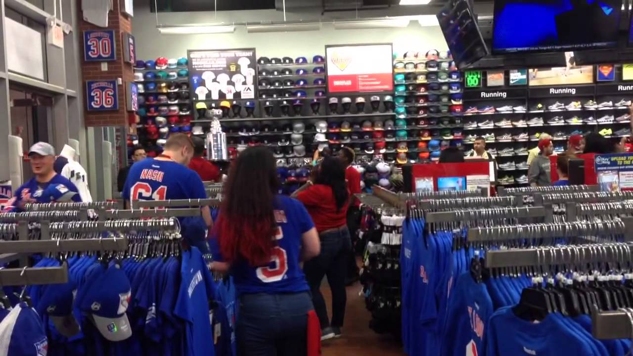 new arrival 255e4 d7163 Modell's Store @ 34th Street Celebrating a NY Rangers Win!
