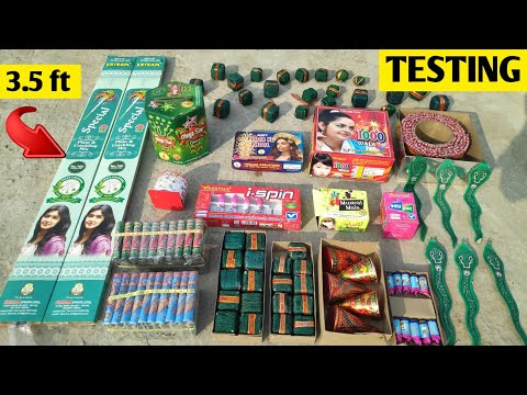 Different types of Crackers Testing 2020 | Testing Diwali Crackers 2020 | New Crackers TESTING 20