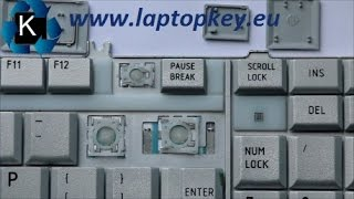 How to install key in keyboard Toshiba Satellite A500 L350 F50 F501 G50 G55 X300 X305