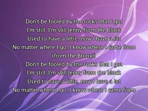 Jennifer Lopez - Jenny From The Block, Lyrics In Video