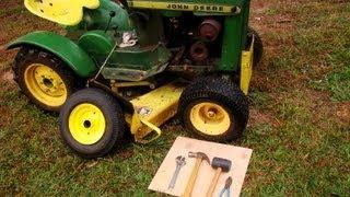 John deere round fender how to swap tires.