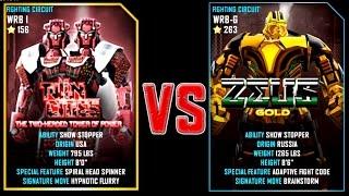 Фото REAL STEEL WRB Twin Cities VS ZEUS GOLD Champion263 New Robots UPDATE Живая Сталь