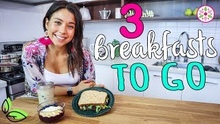 3 QUICK BREAKFASTS TO GO!