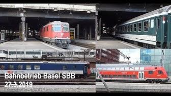 Bahnbetrieb Bahnhof Basel SBB 27.03.2019