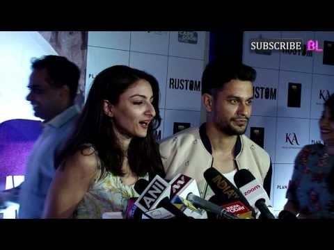 Soha Ali Khan and Kunal Khemu | Rustom Movie | Special Screening