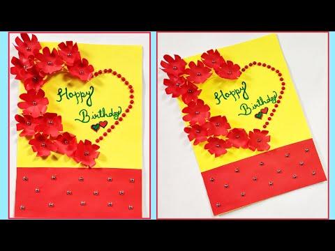 Beautiful Handmade Birthday Card idea - DIY GREETING cards for birthday / Birthday card idea easy