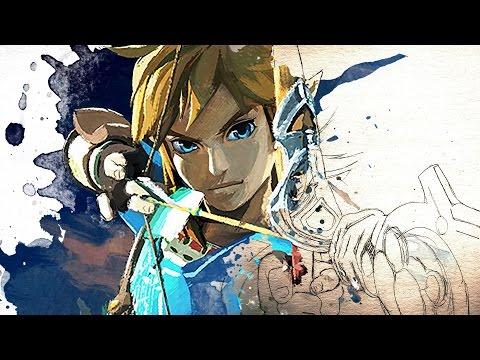 Legend Of Zelda Breath Of The Wild Link Watercolor