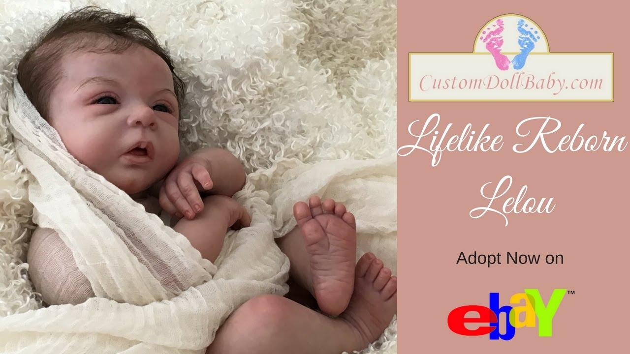 Now On Ebay Lifelike Reborn Doll Baby Lelou By Evelina Wosnjuk
