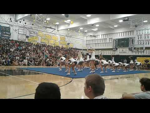Rio Americano high school cheer team... very first rally