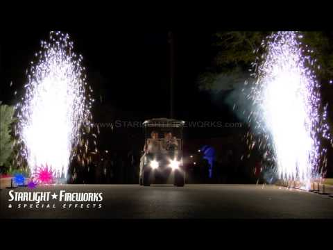 Starlight Fireworks & FX - Wedding Pyrotechnic Departure Effects - Gerbs 4-13-13