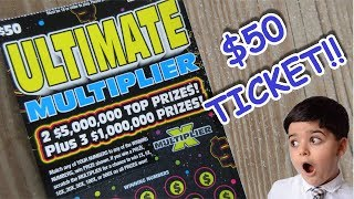 "WINNER!!..BIG GAMBLE PAYS OFF!!..$50 ""ULTIMATE"" LOTTERY TICKET SCRATCH OFF!!"