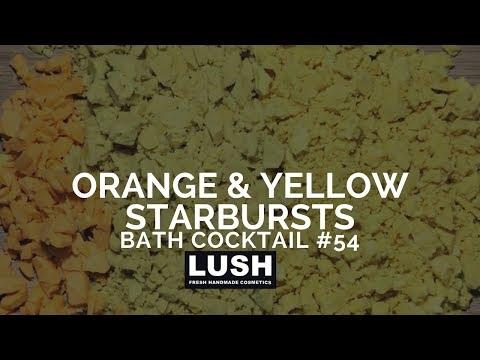 LUSH COSMETICS Bath Cocktail #54: Yellow and Orance Starburst Scented Bath