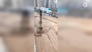Banjir di kota Zhengzhou Provinsi Hainan China