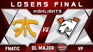 Fnatic vs VP LB Final Stockholm Major DreamLeague Highlights 2019 Dota 2