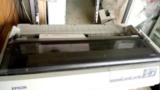 Epson LQ-2190 Dot matrix Printer.Test page print Epson LQ-2190 printer.